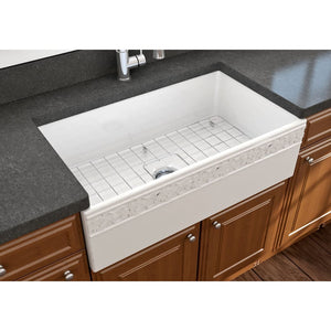 Farmhouse Sink Bocchi 1353-001-0120 33 Fireclay Apron
