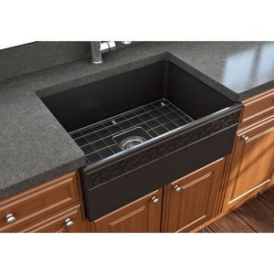 Farmhouse Sink Bocchi 1357-004-0120 27 Fireclay Apron
