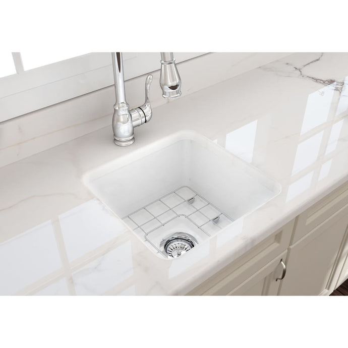Farmhouse Sink Bocchi 1359-001-0120 18 Fireclay Undermount