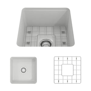 Farmhouse Sink Bocchi 1359-002-0120 18 Fireclay Undermount