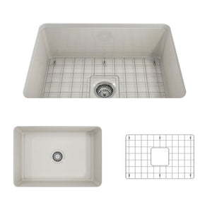 Farmhouse Sink Bocchi 1360-014-0120 27 Fireclay Undermount