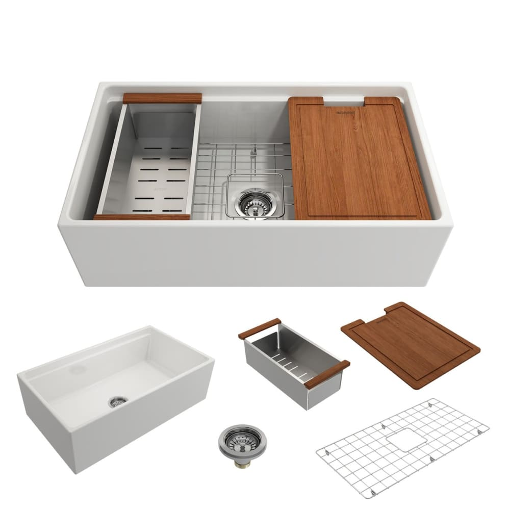 Farmhouse Sink Bocchi 1504-001-0120 33 Fireclay Apron