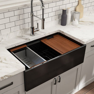 Farmhouse Sink Bocchi 1504-005-0120 33 Fireclay Apron