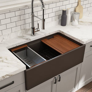 Farmhouse Sink Bocchi 1504-025-0120 33 Fireclay Apron