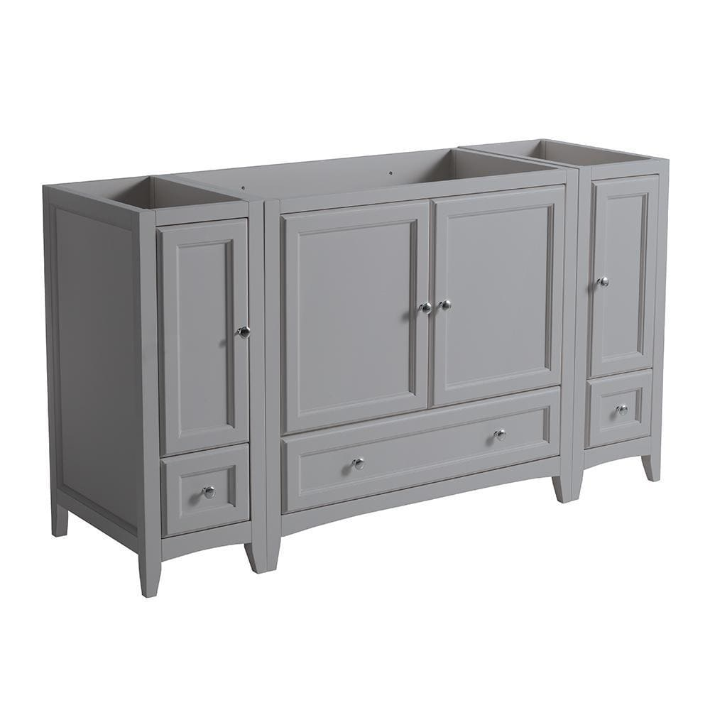 Vanity Base Cabinets Fresca FCB20-123612GR Oxford 60 Gray