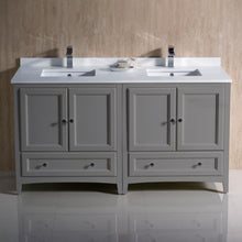 Vanities Fresca FCB20-3030GR-CWH-U Oxford 60 Gray