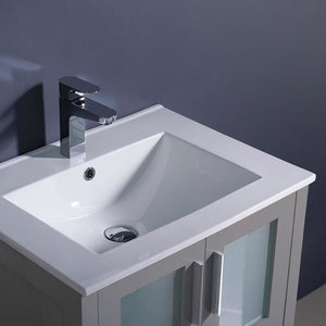 Vanities Fresca FCB6224GR-I Torino 24 Gray Modern Bathroom