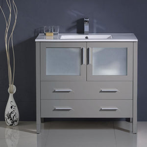 Vanities Fresca FCB6236GR-I Torino 36 Gray Modern Bathroom