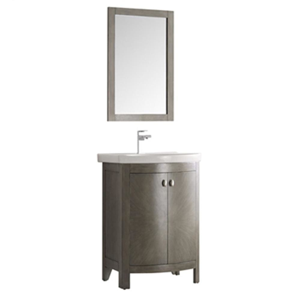 Vanities Fresca FVN2301SA-CMB Greenwich 24 Antique Silver