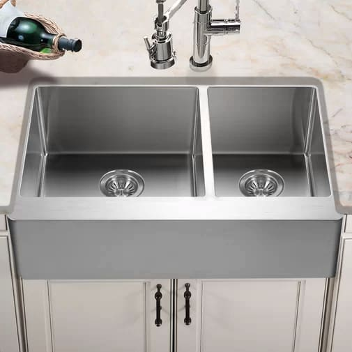 Stainless Steel 33 Houzer END-3360SR Epicure L x 20 W Series