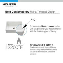 Load image into Gallery viewer, Fireclay 36 Houzer PTG-3600 BQ HOUZER BISCUIT FIRECLAY