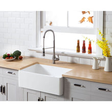 Load image into Gallery viewer, Farmhouse Sink Kingston Brass GKFA301810BC Gourmetier White