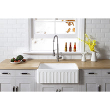 Load image into Gallery viewer, Farmhouse Sink Kingston Brass GKFA301810CD Gourmetier White