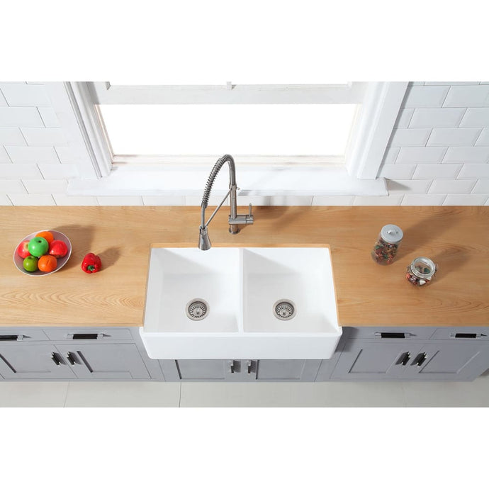 Farmhouse Sink Kingston Brass GKFA331810BCD Gourmetier