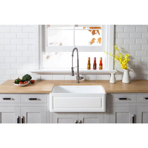 Farmhouse Sink Kingston Brass GKFA331810LD Gourmetier White