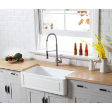 Load image into Gallery viewer, Farmhouse Sink Kingston Brass GKFA331810LD Gourmetier White