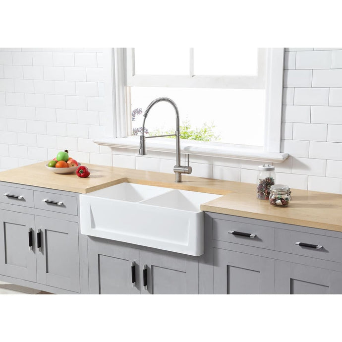 Farmhouse Sink Kingston Brass GKFA331810SQD Gourmetier