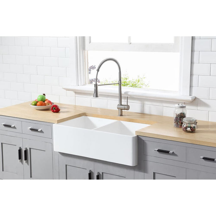 Farmhouse Sink Kingston Brass GKFA361810BCD Gourmetier