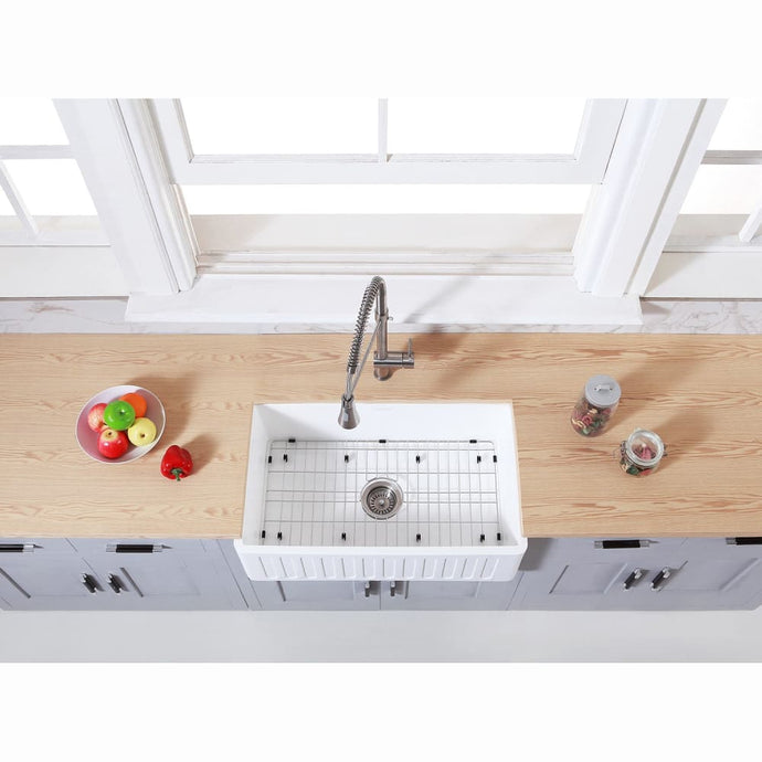 Farmhouse Sink Kingston Brass KGKFA301810RM Gourmetier Matte