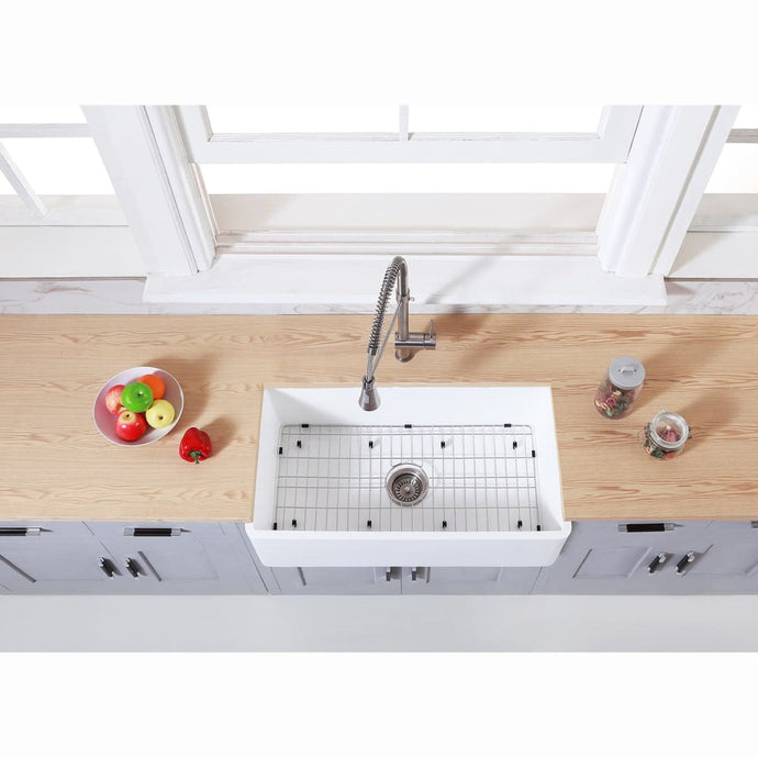 Farmhouse Sink Kingston Brass KGKFA331810BC Gourmetier