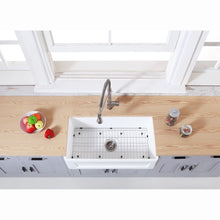 Load image into Gallery viewer, Farmhouse Sink Kingston Brass KGKFA331810SQ Gourmetier