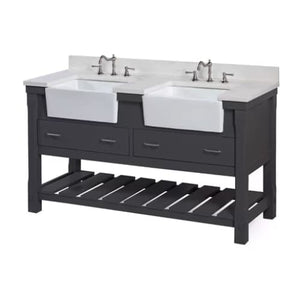 Sink Kitchen Bath Collection Charlotte 60 Double Farmhouse