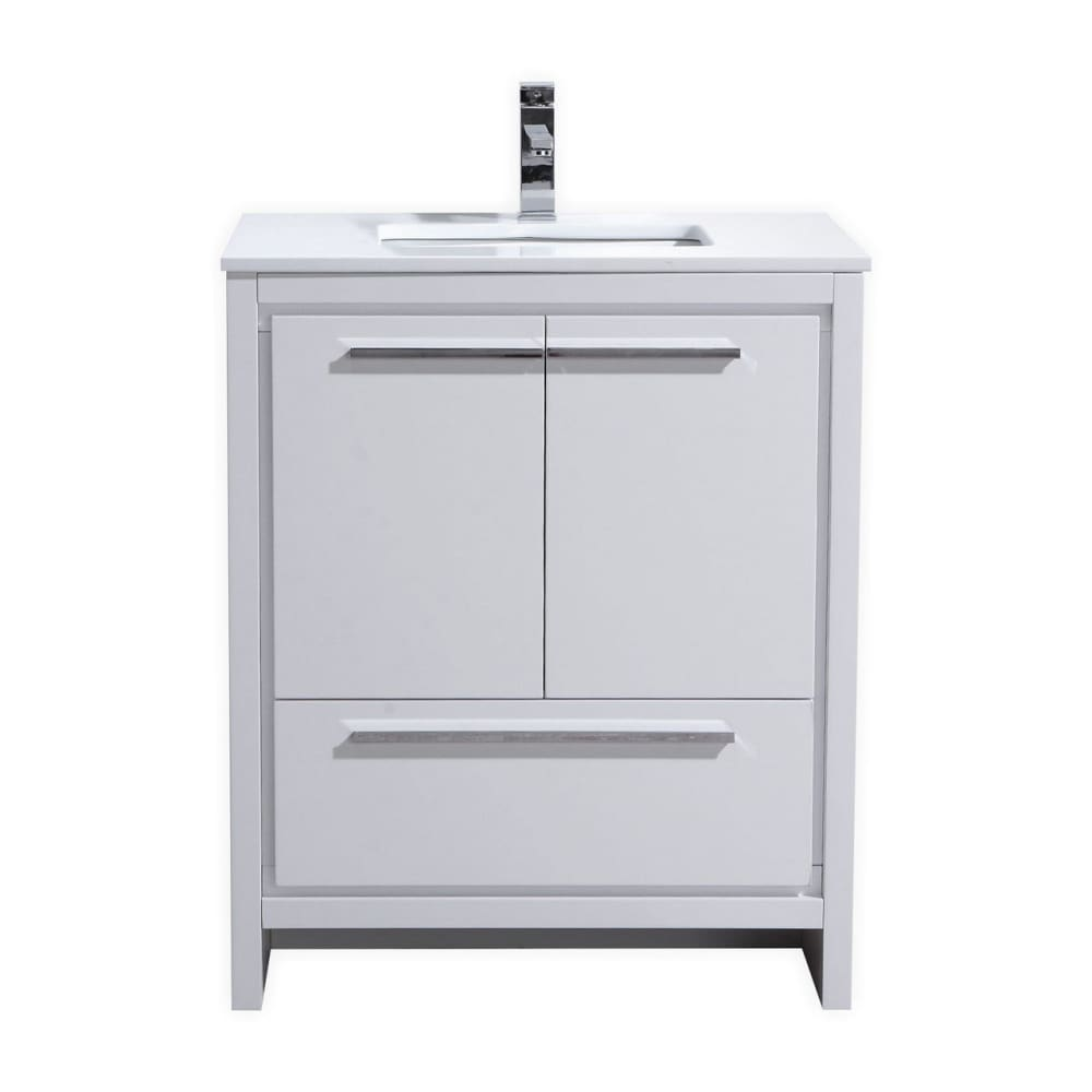 Vanity KubeBath AD630GW Dolce 30 Modern Bathroom Single with