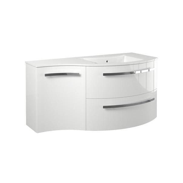 Vanity LaToscana AM43OPT2W Ambra 43 vanity with left concave
