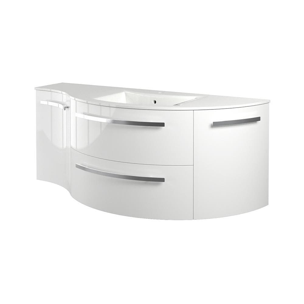 Vanity LaToscana AM52OPT1W Ambra 52 vanity with left concave