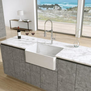 Farmhouse Sink LaToscana LTW2718W 27 Reversible Fireclay