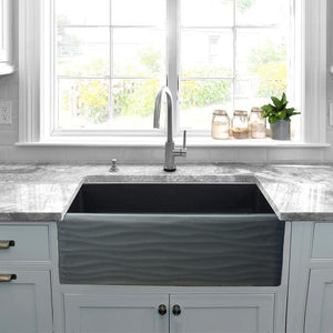 Kitchen Sink Nantucket FCFS3320S-MB-Waves Sinks' 33 Inch