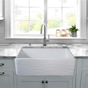 Kitchen Sink Nantucket FCFS3320S-W-Waves Sinks' 33 Inch