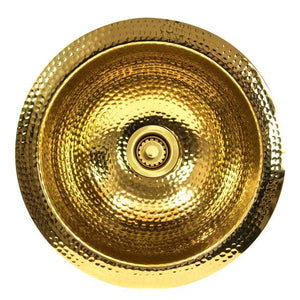 Bar Sink Nantucket ROB Sinks' - 13 Inch Hand Hammered Brass