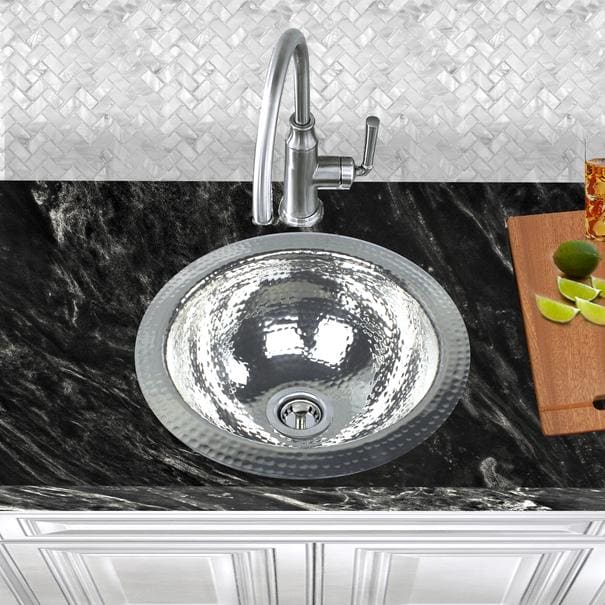 Bar Sink Nantucket ROS Sinks 13 Inch Hand Hammered Stailess