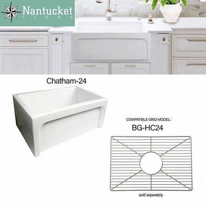 Farmhouse Sink Nantucket Sinks Chatham-24 24 fireclay Apron