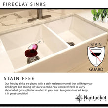 Load image into Gallery viewer, Farmhouse Sink Nantucket Sinks FCFS30 30 Fireclay Offset