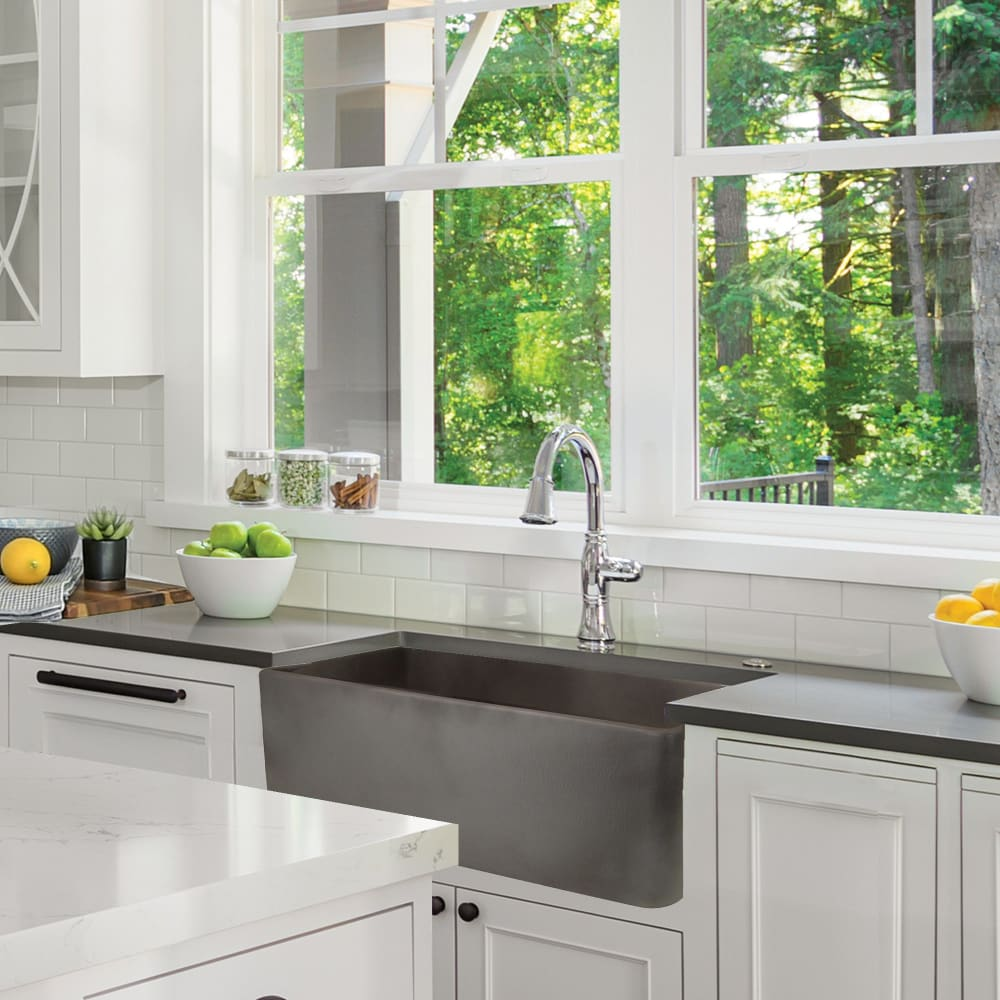Farmhouse Sink Nantucket Sinks FCFS3020S-Concrete 30