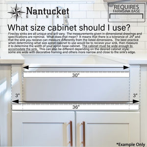 Farmhouse Sink Nantucket Sinks FCFS3020S-Filigree 30
