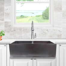 Load image into Gallery viewer, Farmhouse Sink Nantucket Sinks FCFS3318D-ACCIAIO 33 Fireclay