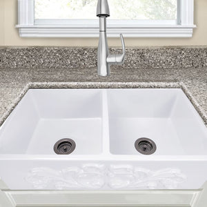 Farmhouse Sink Nantucket Sinks FCFS3318D-Filigree 33