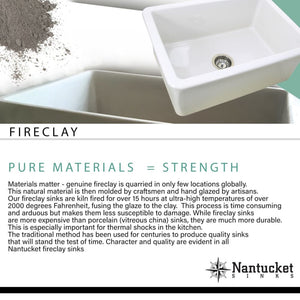 Farmhouse Sink Nantucket Sinks FCFS3318D-PietraSarda 33