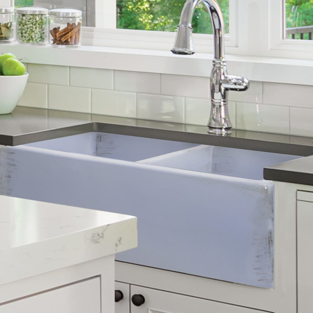 Farmhouse Sink Nantucket Sinks FCFS3318D-ShabbySugar 33