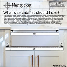 Load image into Gallery viewer, Farmhouse Sink Nantucket Sinks FCFS3320S-ACCIAIO 33 Fireclay