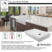 Farmhouse Sink Nantucket Sinks NS-GSEZA32S 31 Glacierstone