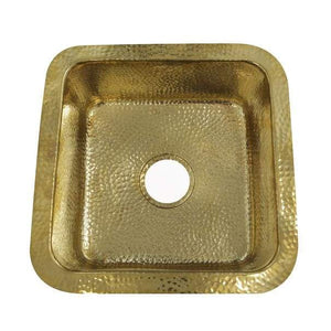 Bar Sink Nantucket SQRB-7 Sinks' 16.625 Inch Hammered Brass