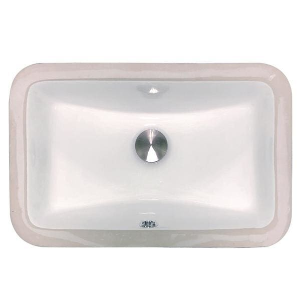 Bathroom Sink Nantucket UM-159-W Sinks Undermount Ceramic In