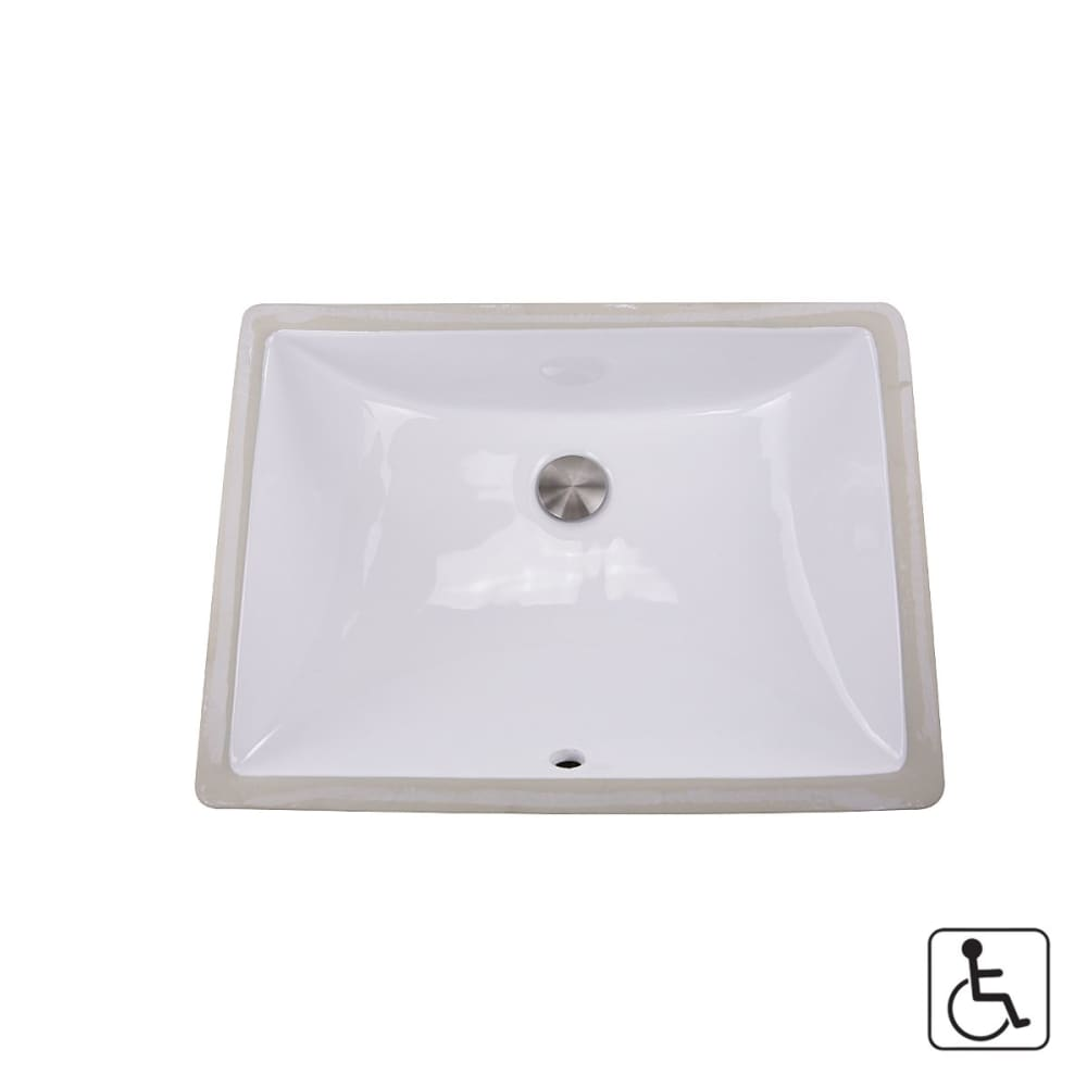 Bathroom Sink Nantucket UM-18x13-W Sinks 18 Inch x 13