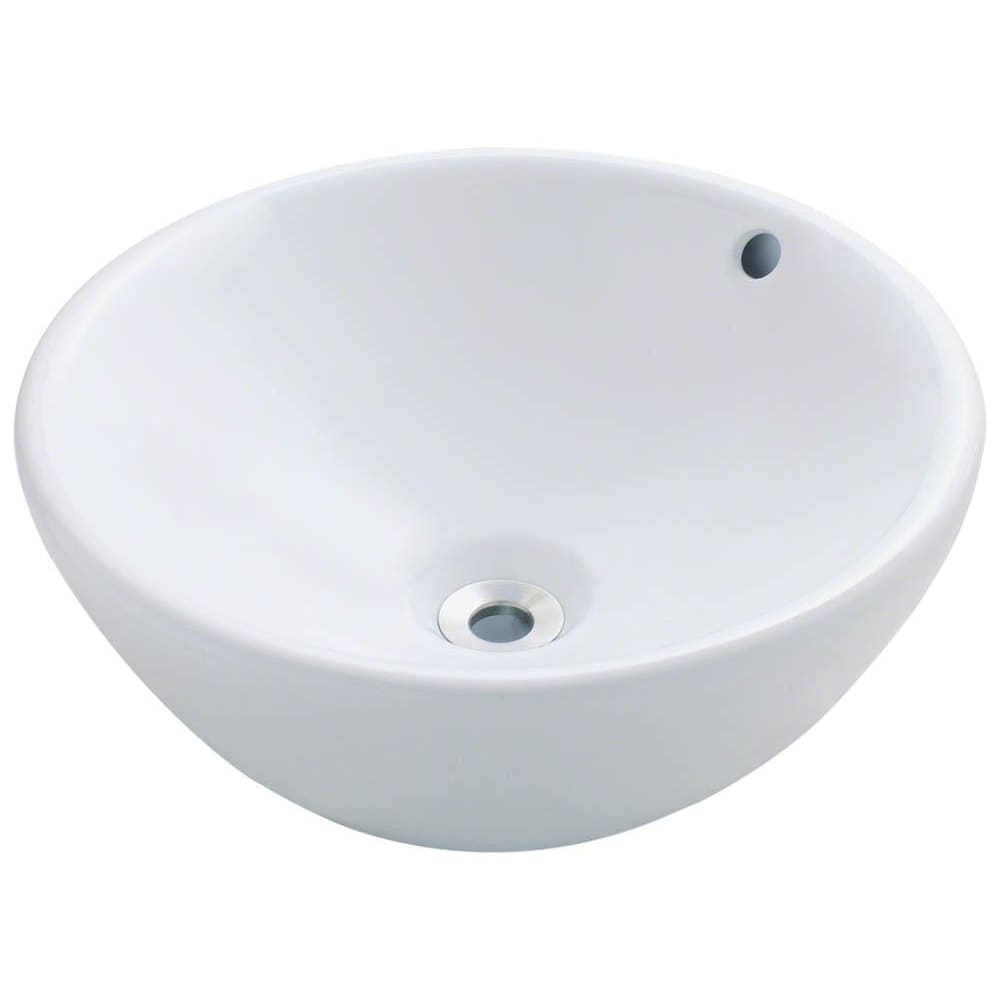 Bathroom Sink Polaris P0022VW Porcelain Vessel Vitreous