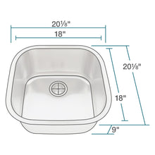 Load image into Gallery viewer, Kitchen Sink Polaris P0202-18 Stainless Steel Brushed Satin