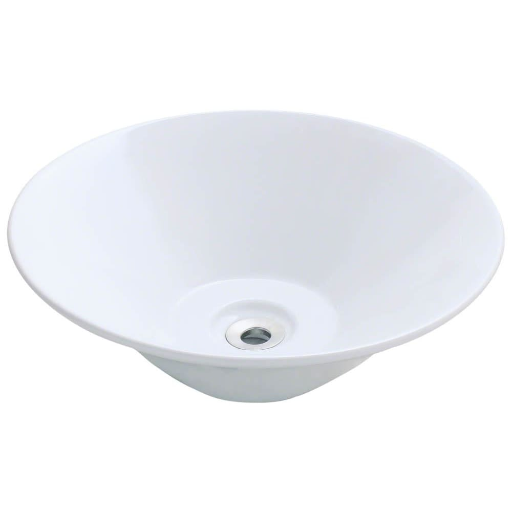 Bathroom Sink Polaris P022VW Porcelain Vessel Vitreous China